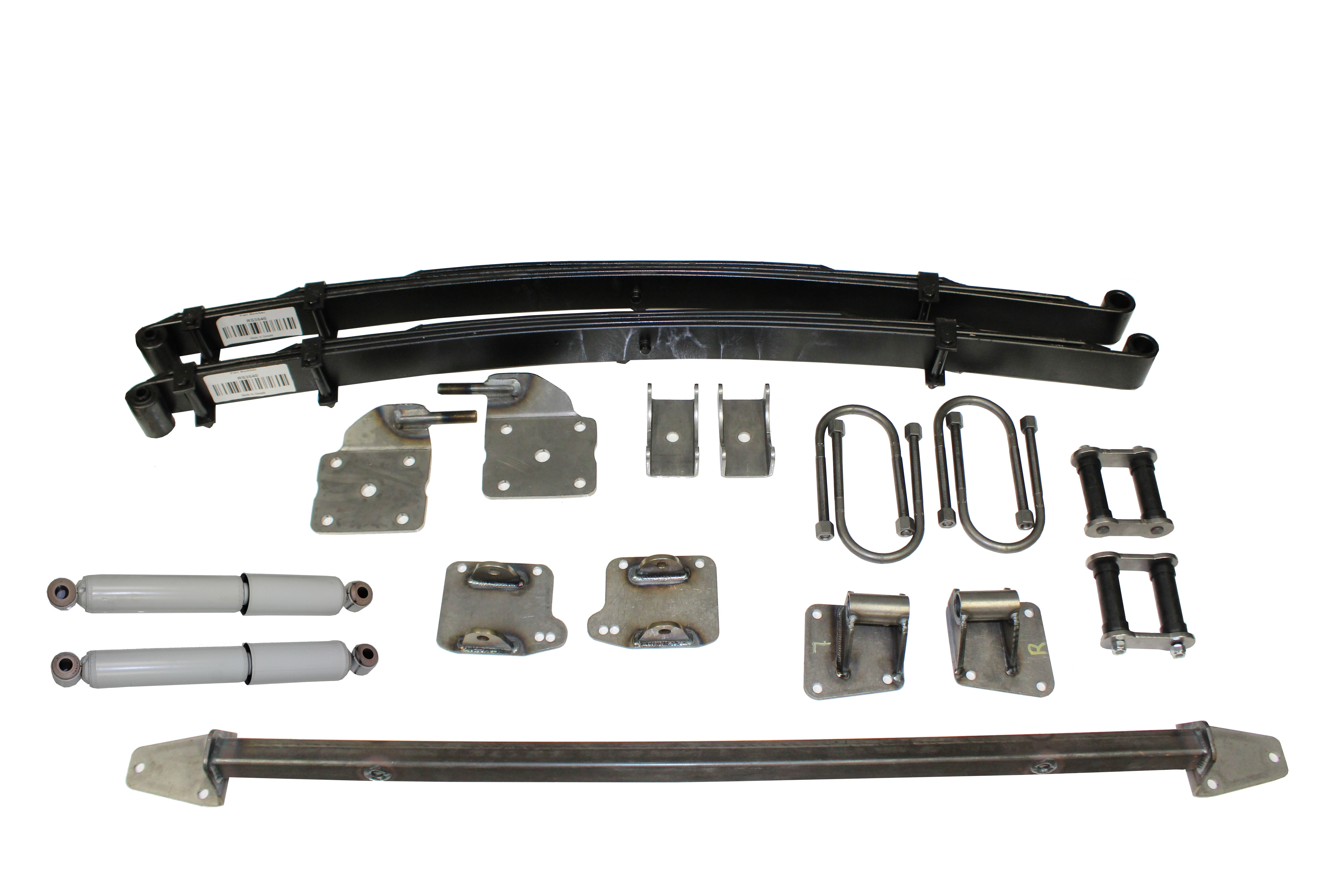 AS-1018CG Complete Leaf Spring Rear End Mounting Kit for 1937-1939 Chevy  (Gas Shocks)
