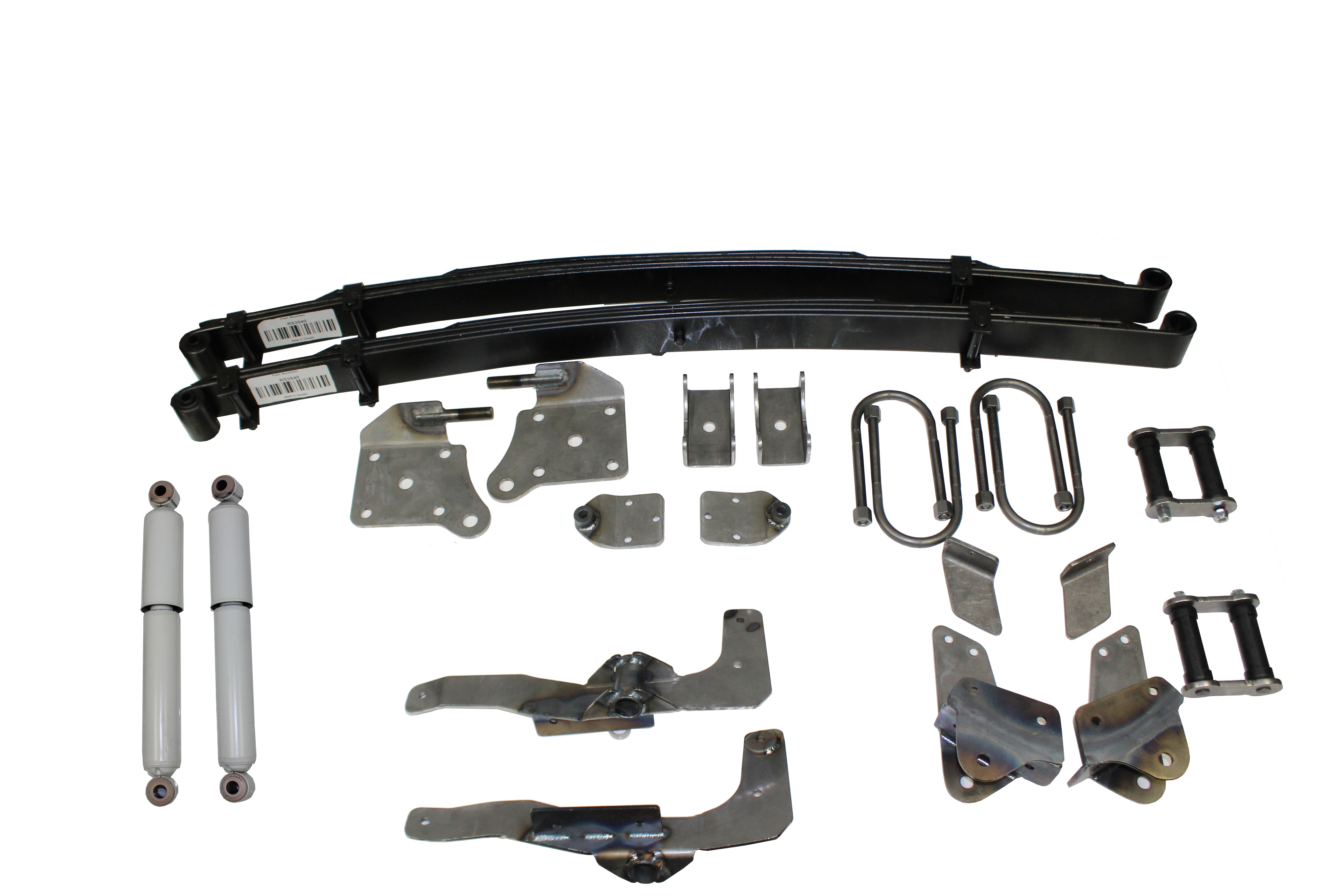AS-2016CGHD Complete Leaf Spring Rear End Mounting Kit for late 1936-1940  Ford Car and 1935-1941 Ford Pickup Truck (Gas Shocks, Heavy Duty Springs)