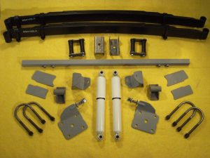 AS-1016CG Complete Leaf Spring Rear End Mounting Kit for 1935-1936 Chevy Master (Gas Shocks)