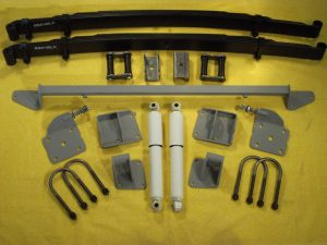 AS-1017CG Complete Leaf Spring Rear End Mounting Kit for 1936 Chevy Standard (Gas Shocks)