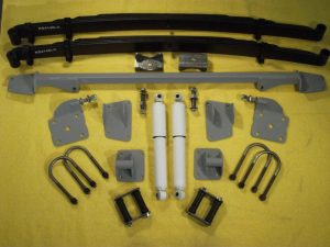 AS-1019CG Complete Leaf Spring Rear End Mounting Kit for 1941-1948 Chevy (Gas Shocks)