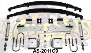 AS-2011C9 Complete Leaf Spring 9 inch Rear End Mounting Kit for 1933-1934 Ford (Weld-on)