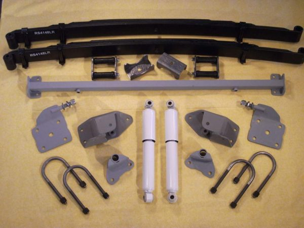 AS-4133CGLR Complete Leaf Spring Rear End Mounting Kit for 1933-1934 Dodge (Heavy Duty Springs, Gas Shocks)