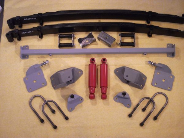 AS-4133CLR Complete Leaf Spring Rear End Mounting Kit for 1933-1934 Dodge (Heavy Duty Springs)
