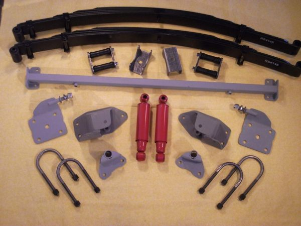 AS-4133CY Complete Leaf Spring Rear End Mounting Kit for 1933-1934 Dodge (High Arch Springs)