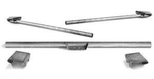 AT-1055 Bolt-on Reinforced Transmission Crossmember for 1936-1954 Chevy Top-Hat Frames (under frame)