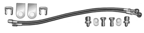 AU-0014GM Complete 14 inch Braided Brake Line Kit for GM Calipers (w Fittings and Lines)