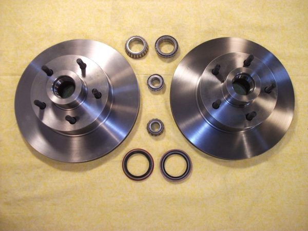 "AU-0126C Granada Rotors With Bearing And Seals - Ford Bolt Circle 4 1/2"" X 5 (pair)"