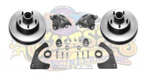 AU-1054C Complete DISK BRAKE KIT FOR ORIGINAL SPINDLES  (1949-1954 all, 53-62 Corvette)