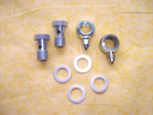 AU-2300 Brake Fitting Banjo Bolts (pair) 12mm X 1.0 and crush washers